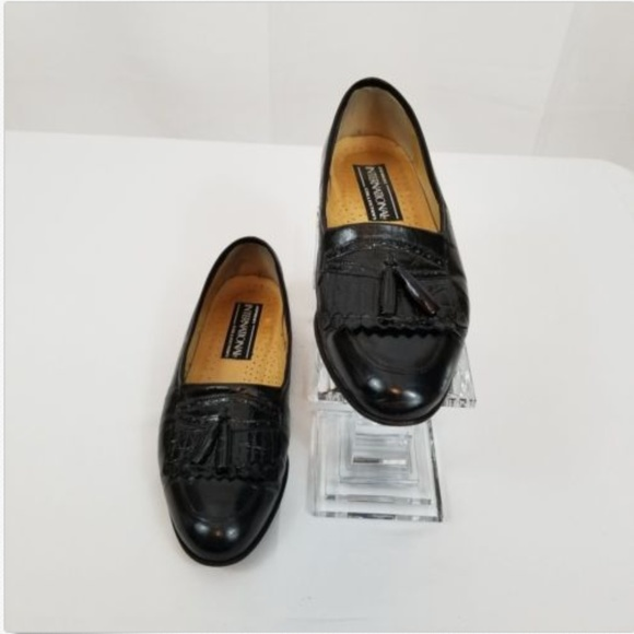 99aaa2827c0 Jarman International Mens Black Leather shoes 7.5